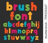 color lowercase handwritten... | Shutterstock .eps vector #759233167