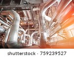equipment  cables and piping as ... | Shutterstock . vector #759239527
