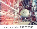 equipment  cables and piping as ... | Shutterstock . vector #759239533