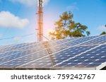 solar cells solar cells... | Shutterstock . vector #759242767