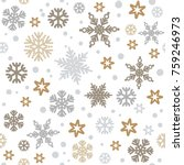 christmas seamless pattern with ... | Shutterstock .eps vector #759246973