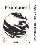 exoplanet informative poster....   Shutterstock .eps vector #759247303