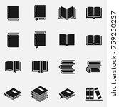 set of books vector icons. | Shutterstock .eps vector #759250237