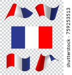 a set of french wavy flags.... | Shutterstock .eps vector #759253513