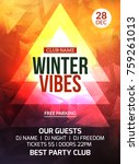 2018 new year winter party... | Shutterstock .eps vector #759261013