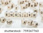 word english formed by wood... | Shutterstock . vector #759267763