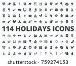 holidays silhouette icon pack... | Shutterstock .eps vector #759274153