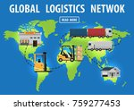 logistics infographics. a world ...