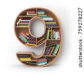 number 9 nine. alphabet in the... | Shutterstock . vector #759278227