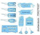 winter social media sale... | Shutterstock .eps vector #759279337