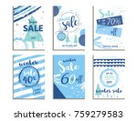 winter social media sale... | Shutterstock .eps vector #759279583