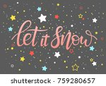 christmas and new year... | Shutterstock .eps vector #759280657