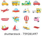set of transportation vehicles | Shutterstock .eps vector #759281497
