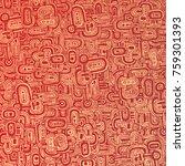 drawing halftone textures. hand ... | Shutterstock .eps vector #759301393