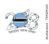 2018 happy new year botswana... | Shutterstock .eps vector #759309163
