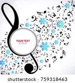 new year musical background... | Shutterstock .eps vector #759318463
