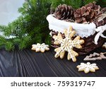 christmas background with a... | Shutterstock . vector #759319747
