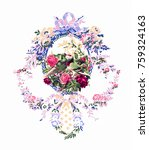 the deformation of flowers  the ... | Shutterstock . vector #759324163