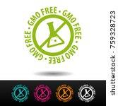 gmo free badge  logo  icon.... | Shutterstock .eps vector #759328723