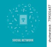social network connected all... | Shutterstock .eps vector #759331657
