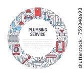 plumbing service banner... | Shutterstock .eps vector #759340693