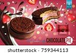 vector realistic illustration... | Shutterstock .eps vector #759344113