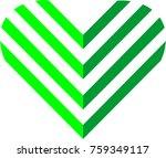 green love arrow   Shutterstock .eps vector #759349117