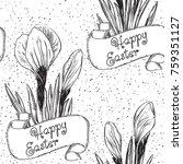 spring background. happy easter ... | Shutterstock .eps vector #759351127