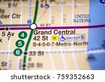 Small photo of Grand Central 42 St. Lexington Av/Pelham Express Line. NYC. USA on map