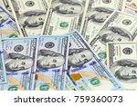 a heap of paper bills american... | Shutterstock . vector #759360073