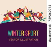 color sport background. hockey  ... | Shutterstock .eps vector #759360793