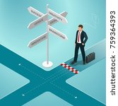 isometric business directions.... | Shutterstock . vector #759364393