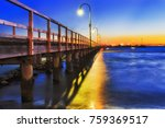 dark sunset over historic old... | Shutterstock . vector #759369517