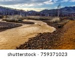 yellow river with red   yellow... | Shutterstock . vector #759371023