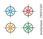 compass logo design template...   Shutterstock .eps vector #759371107