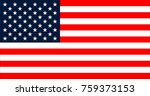 usa flag in the original size an | Shutterstock .eps vector #759373153