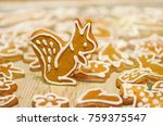 delicious christmas gingerbread ... | Shutterstock . vector #759375547