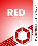 red document template with... | Shutterstock .eps vector #759376837