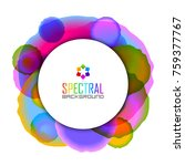 circular badge on spectral... | Shutterstock .eps vector #759377767
