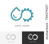 Water Power Logo   Drop Of...