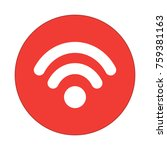 wifi  round flat icon | Shutterstock .eps vector #759381163