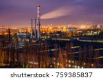 night cityscape view of... | Shutterstock . vector #759385837