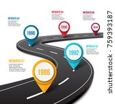 vector road infographic with... | Shutterstock .eps vector #759393187