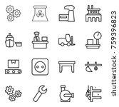 thin line icon set   gear ... | Shutterstock .eps vector #759396823