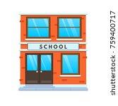 concept modern city school... | Shutterstock .eps vector #759400717