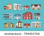 set of different colorful...   Shutterstock .eps vector #759401743