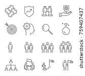 people business vector line... | Shutterstock .eps vector #759407437