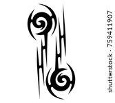 tattoo tribal vector design.... | Shutterstock .eps vector #759411907