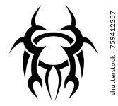 tattoo tribal vector designs.  | Shutterstock .eps vector #759412357