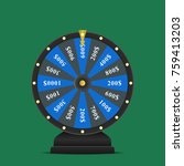 realistic spinning fortune... | Shutterstock . vector #759413203